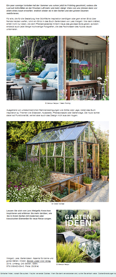 Lassen Sie Sich Von Lars Weigelts Know How Inspirieren Und Erfahren Sie  Mehr Darüber, Wie Sie In Ihrem Garten Mit Modernen Oder Klassischen  Elementen Für ...