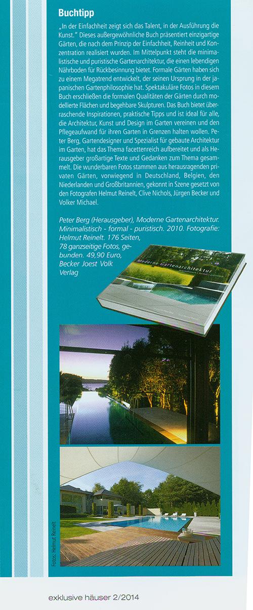 Moderne Gartenarchitektur – minimalistisch - formal - puristisch